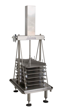 Mini vertical press for cheese and ricotta