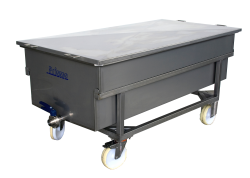 Curd draining trolley