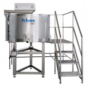 PLATFORM-MOUNTED CIRCULAR TIPPING MULTIPURPOSE MINI COAGULATION VAT